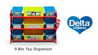 Delta Children's 9 Bin Toy Organizer Vignette
