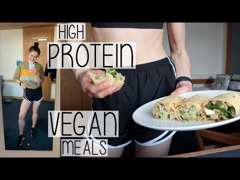 HIGH PROTEIN WHAT I EAT IN A DAY | EASY VEGAN MEALS & YOGA WORKOUTS