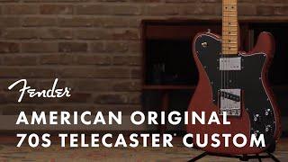 American Original '70s Telecaster Custom | American Original | Fender