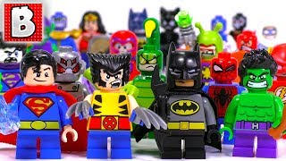 Every LEGO Mighty Micros Minifigure Ever Made!!! All Marvel & DC Comics  Characters