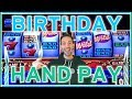 🎈Brian WINS Birthday JACKPOT Hand Pay! 🎁  ✦ High Limit Pinball ✦ Slot Machine Pokies w Brian C
