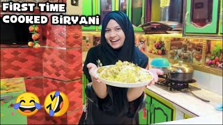 First Time Cooked Biryani 🥴🤦Amber Naz Official ♥️