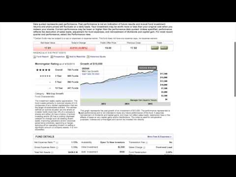 Mutual Fund & ETF Fees with Etrade