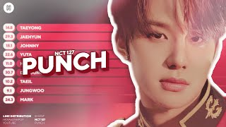 NCT 127 - Punch Line Distribution (Color Coded)