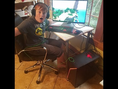 Kids Get New Gaming Computer For Fortnite And More. Fun At It's Best.