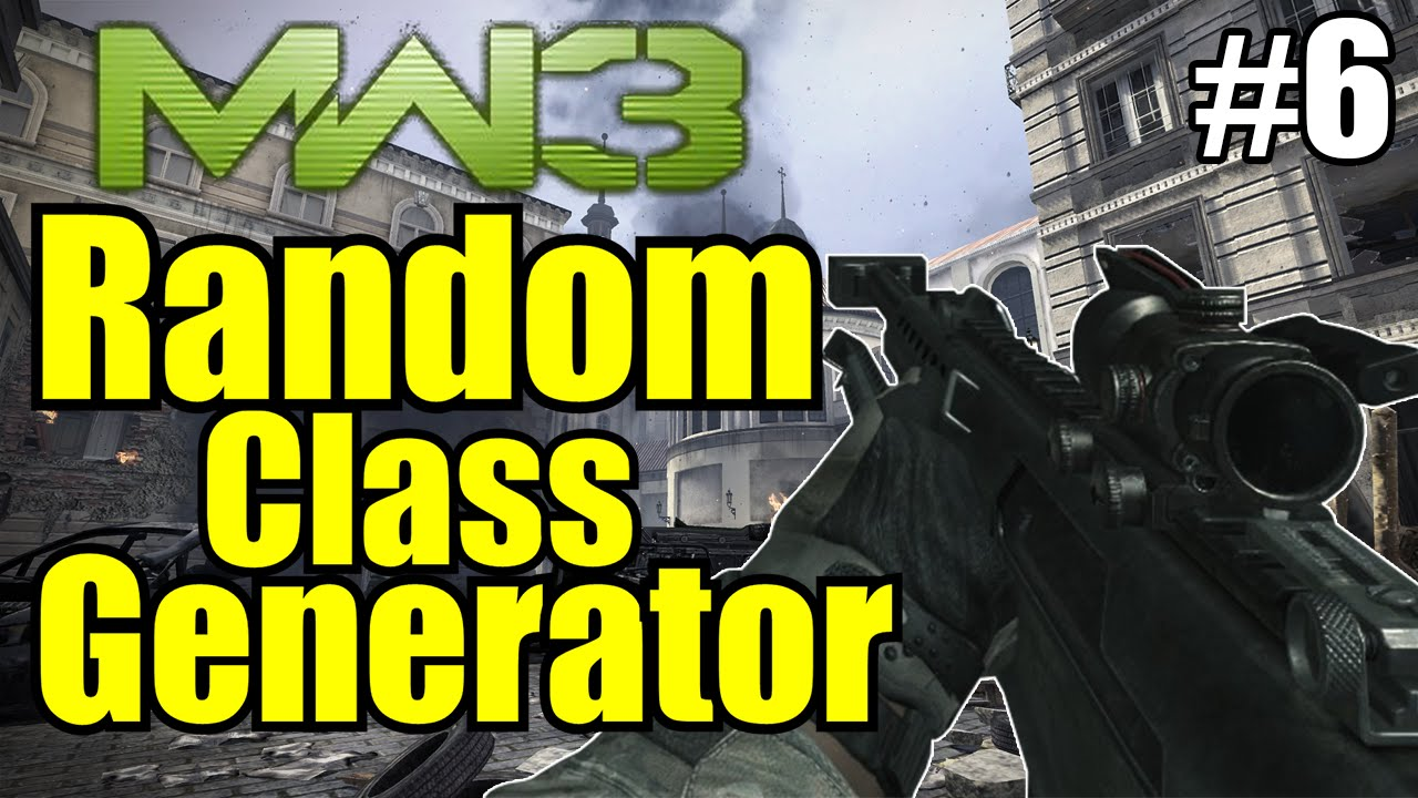 Random Class Generator 6 Mw3 Youtube