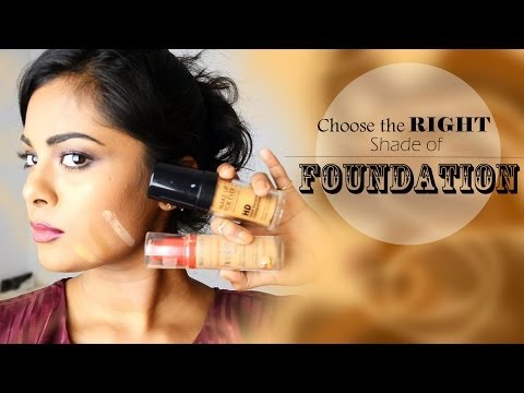 How To Choose The Right Shade Of Foundation : Back to Basics for Beginners