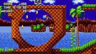 Sonic Mania - Green Hill 1 (Sonic) Speedrun in 29.02