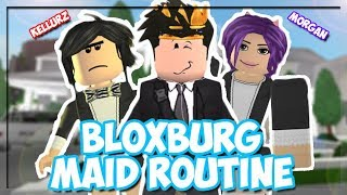 Bloxburg Maid Routine! WE'RE CLEANING THE TOWN! (Roblox Roleplay)