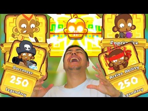 30 MONKEY KNOWLEDGE PACKS! - LEGENDARY CARD HUNT! - Bloons Tower Defense Monkey City