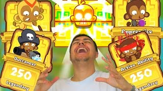 30 MONKEY KNOWLEDGE PACKS! - LEGENDARY CARD HUNT! - Bloons Tower Defense Monkey City