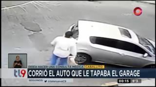 Corrió el auto que le tapaba el garage