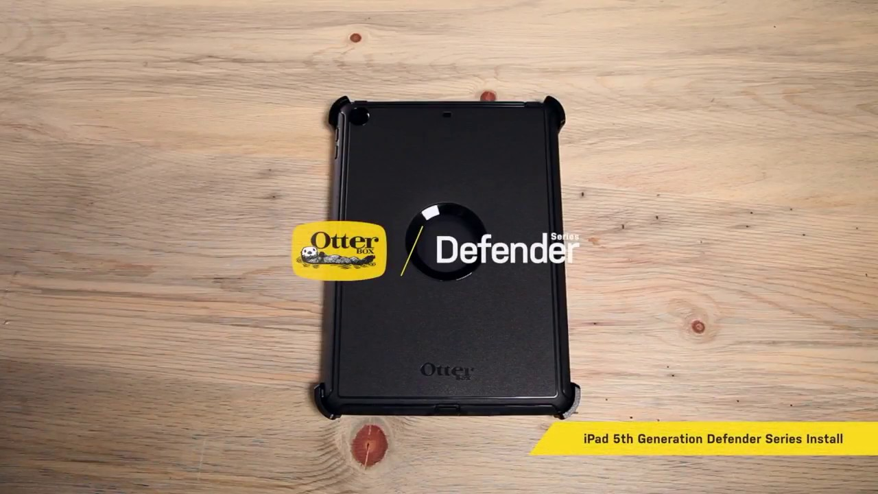 buy popular 8e42c e6701 Defender Series Installation for iPad 5th Generation