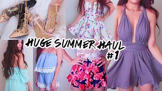 SUMMER HAUL + TRY ON Part 1 | Lilisimply