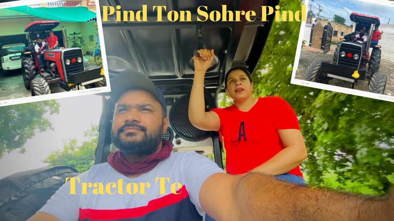 First Ride on Massey Tractor With Wife | Public Reactions 😳 challenge Accepted | Pinder Pawan
