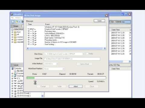 اسهل طريقة عمل فلاشة بوت ببرنامج الترا ايزو نسخ وندوز Xp 78 اى نسخة وندوز فى دقيقة
