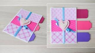 How to make : Greeting Card Valentine's Day | Kartka na Walentynki - Mishellka #279 DIY