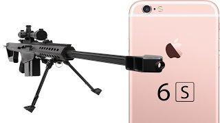 شاهد iPhone 6S الجديد يتعرض لإطلاق النار بإستخدام بندقية قنص من عيار 50