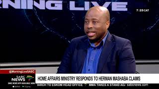 Home Affairs ministry responds to Herman Mashaba claims