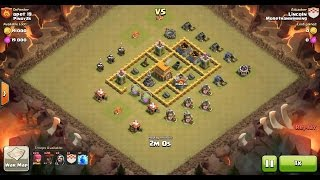 Clash of Clans TH5 vs TH5 Balloon Clan War 3 Star Attack