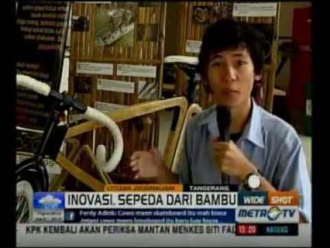 Citizen Journalism WIDE SHOT Metro TV : Sepeda Bambu