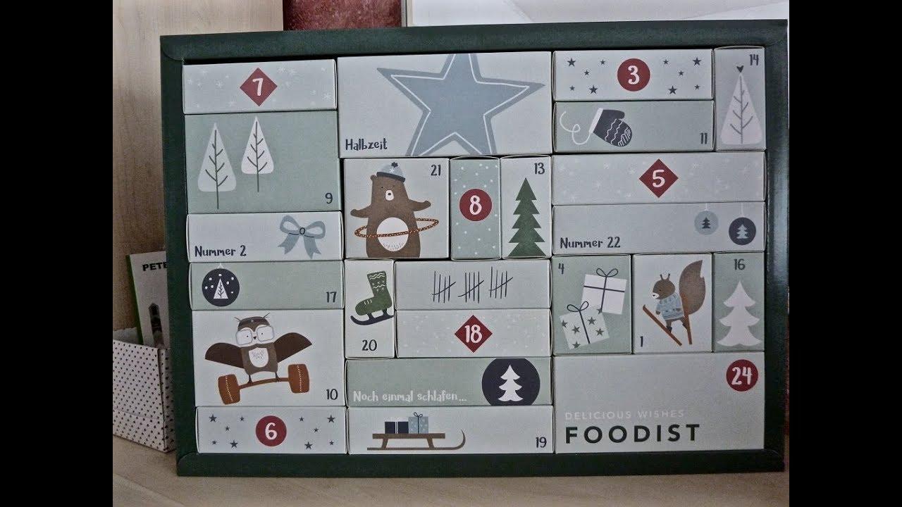 Foodist Weihnachtskalender.Foodist Active Adventskalender 2017 24 Verschiedene Healthy Snacks Listed Under The Video