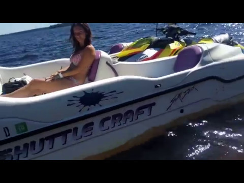 Sea Doo Boats 2017 >> 1999 Shuttlecraft Sport Deck with or without 2015 SeaDoo RXPX 260 - YouTube