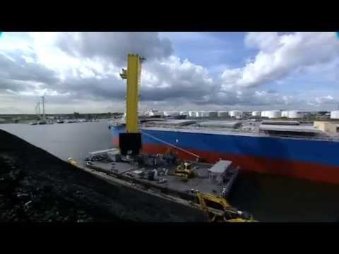 Floating Cranes in Ship to Shore Coal Handling