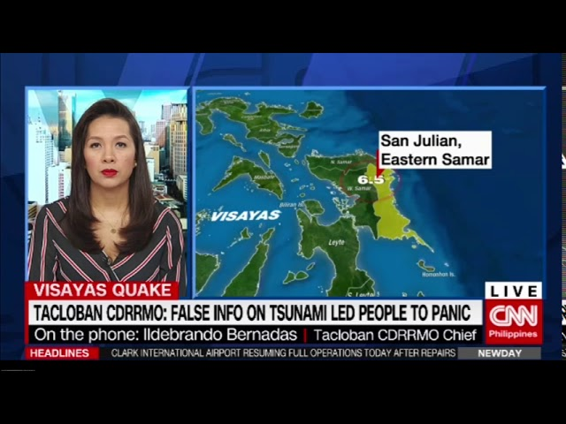 E. Samar monitoring situation after magnitude 6.5 quake