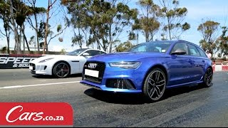Drag Race: Audi RS6 Avant vs Jaguar F-Type V8 AWD