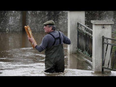 Torrential rain brings flooding from Paris to Prague