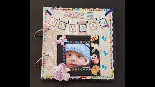 Handmade Mini Album for Baby Boy from DIY Diareis - Colour Splash