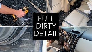 DIRTY CAR DEATAILING | Satisfying Complete Interior and Exterior Transformation