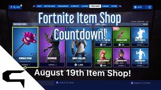 Skins Giftins! FORTNITE ITEM SHOP COUNTDOWN 19 août magasin d'objets Fortnite battle royale