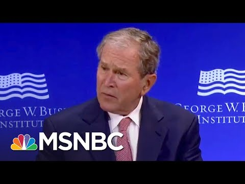 Barack Obama & George W. Bush Criticize President Trump Without Naming Him | The 11th Hour | MSNBC