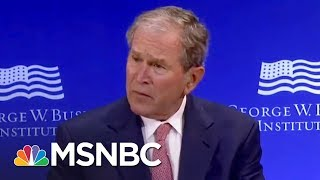 Barack Obama & George W. Bush Both Criticize Donald Trump Without Naming Him | The 11th Hour | MSNBC