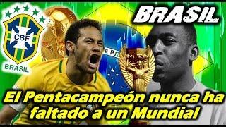 Mundial 2018 - BRASIL - El Pentacampeón nunca ha faltado a un Mundial