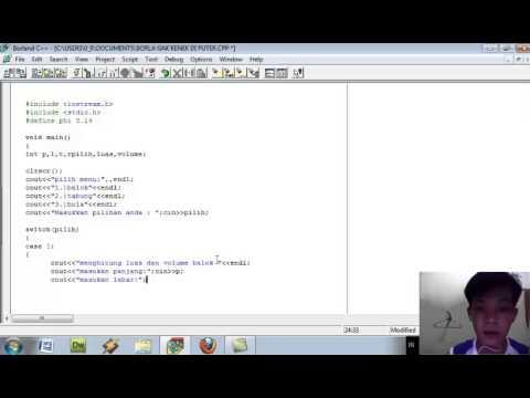 Tutorial Membuat Aplikasi Dengan C++