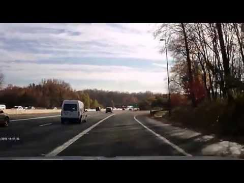 Driving on I-270 to Montgomery Mall (11-12-2015)