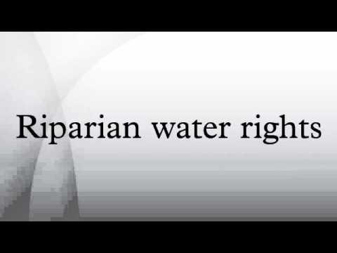 Riparian water rights