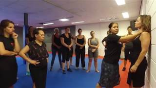 Footage from Ladies Only training: Choke against a Wall