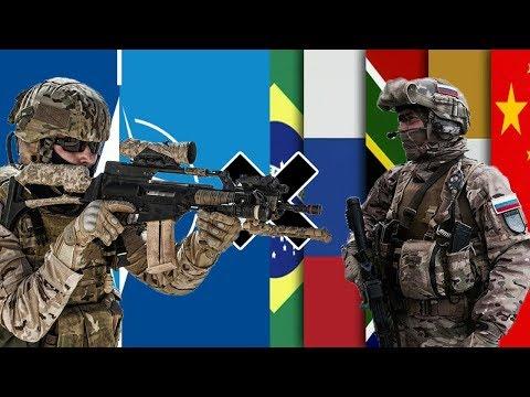 OTAN x BRICS - Comparação Militar
