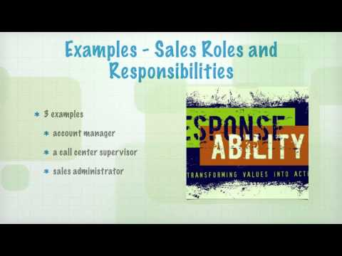 Introduction to Sales  - Roles and Responsibilities