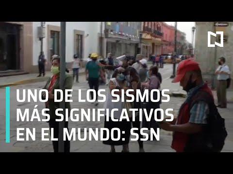 Sismo de magnitud 7.5 en Oaxaca, de los más significativos en el mundo - A Las Tres