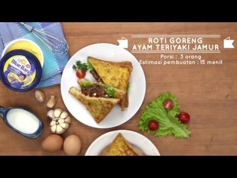 Roti Goreng Ayam Jamur Teriyaki