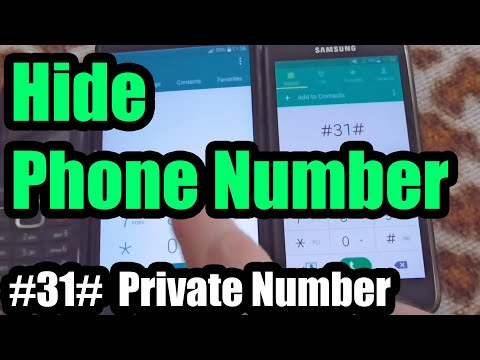 How to Hide your Phone Number (Private number, #31#, Europe)