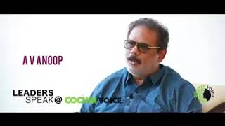 A V Anoop speaks on I AM WITH SUDHEER BABU an online chat show by Cochin Voice