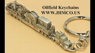 Oilfield Coiled Tubing Rig Keychain JHM#223 Oilfield Gift