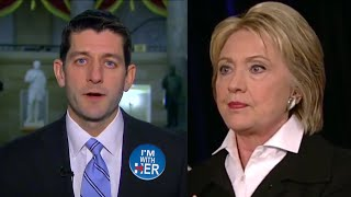 Paul Ryan Endorses Hillary Clinton - Republican Speaker of the House Favors Hillary over Trump!