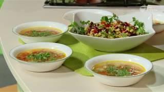 Вегетарианский вариант супа «Шурпа» и салат «Мазурка»